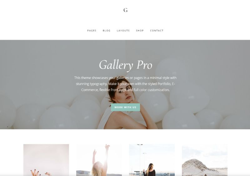 Gallery Pro WordPress Minimalist Theme