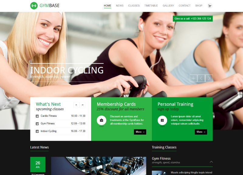 Gymbase Fitness WordPress Theme