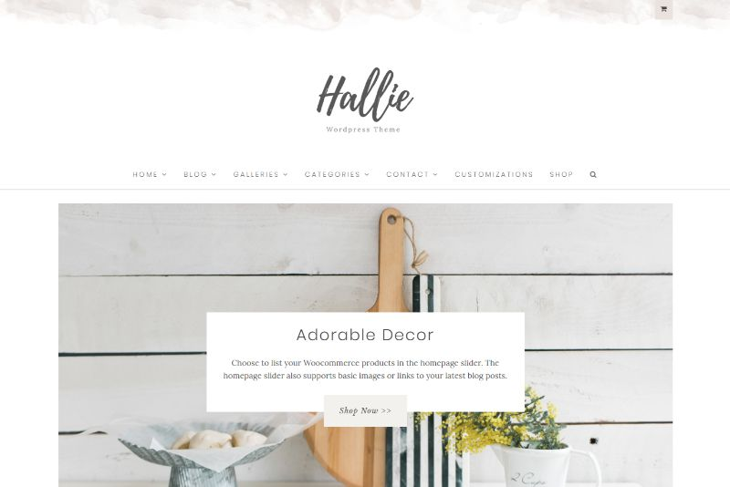 Hallie Feminine WordPress Theme