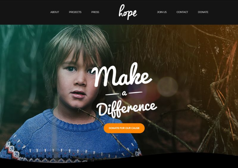 Hope WordPress Charity Theme