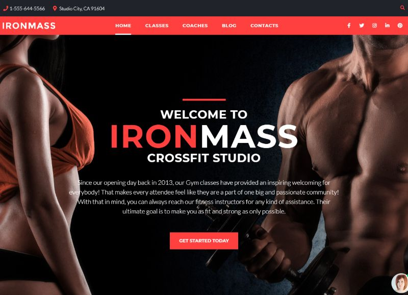 IronMass Fitness WordPress Theme