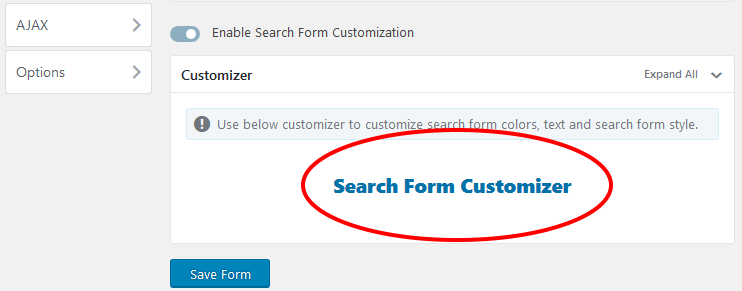 Ivory plugin Search Form Customizer