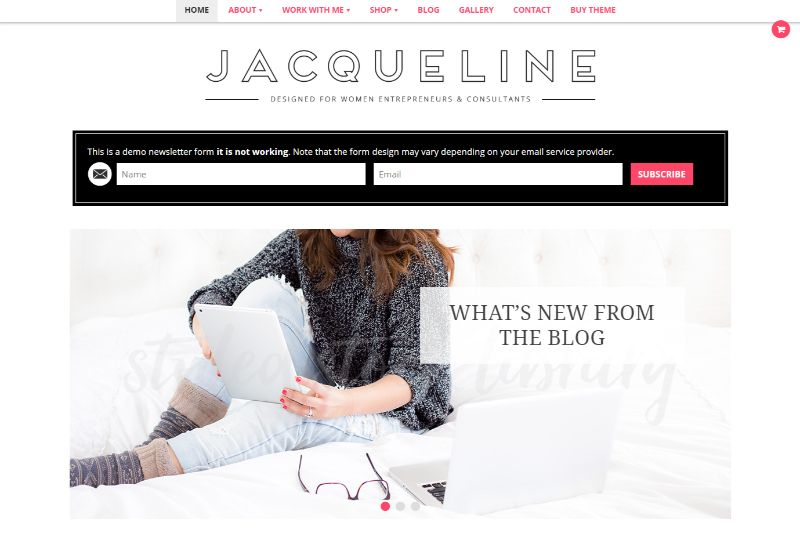 Jacqueline Feminine WordPress Theme