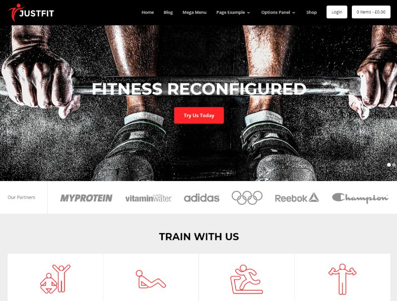 Justfit Fitness WordPress Theme