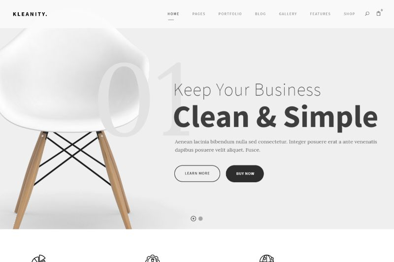 Kleanity WordPress Minimalist Theme