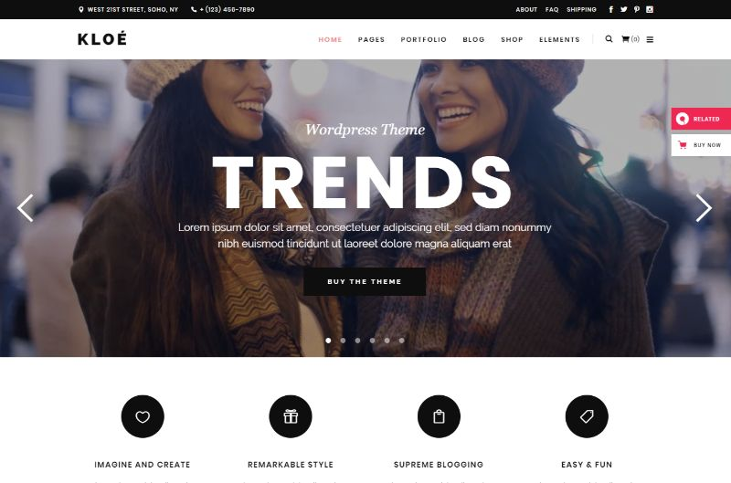 Kloe Lifestyle WordPress Theme