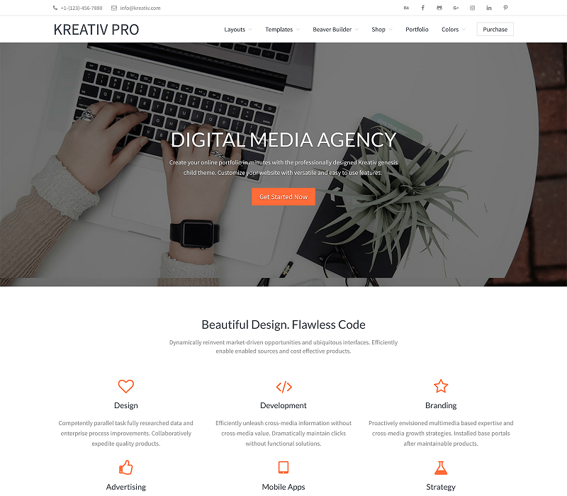 Kreativ Multipurpose WordPress Theme