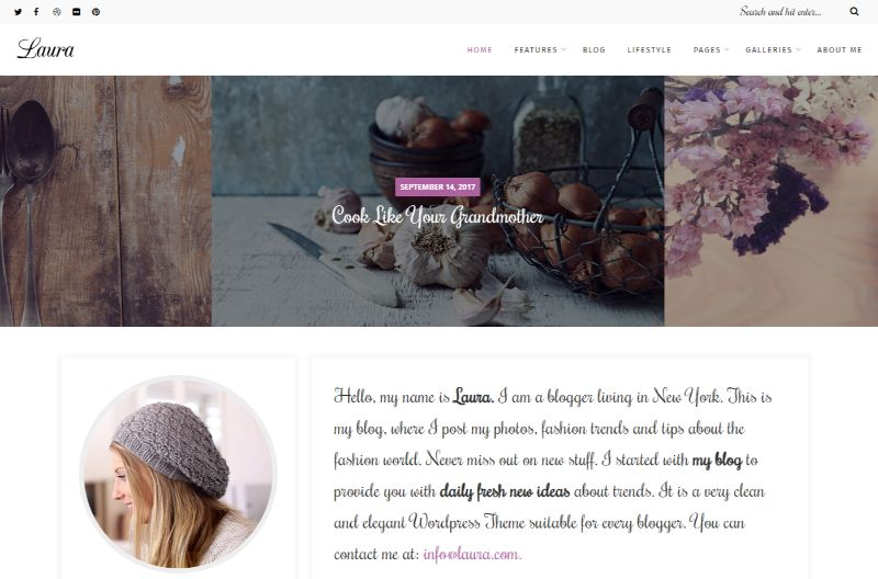 Laura Feminine WordPress Theme