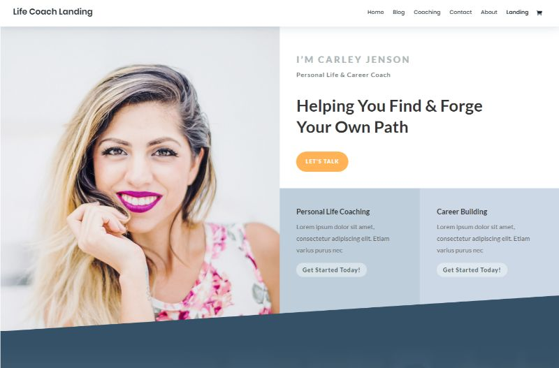 Life Coach Layout Pack by Divi