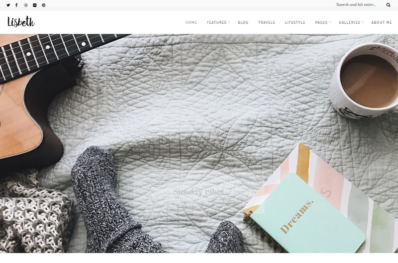 Lisbeth Lifestyle WordPress Theme