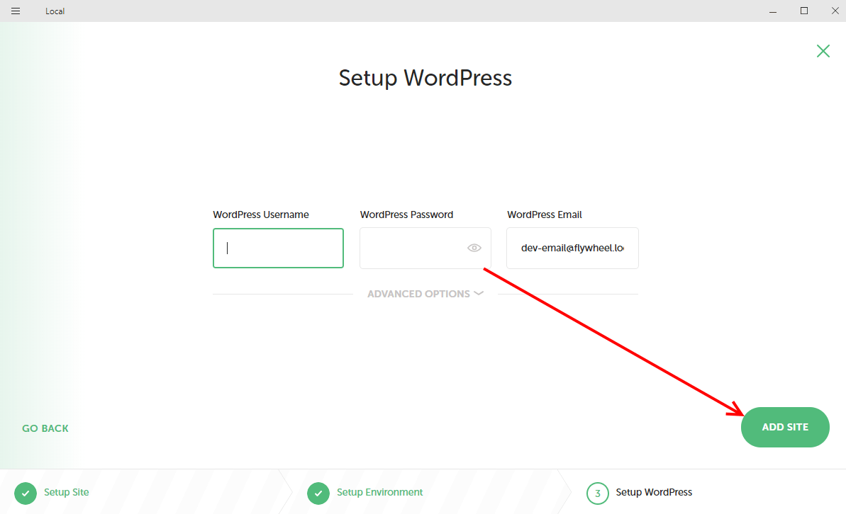 Setup WordPress on Local by Flywheel