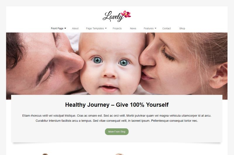 Lovely Lifestyle WordPress Theme