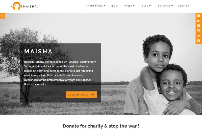 Maisha WordPress Charity Theme