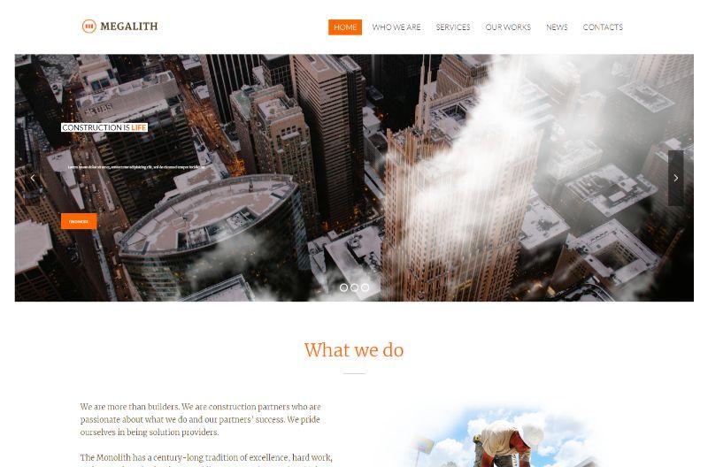 Megalith Architecture WordPress Theme