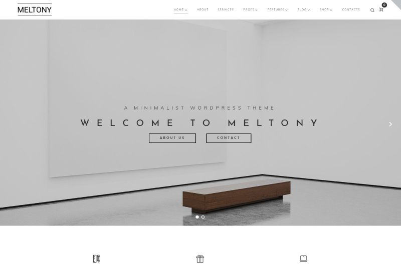 Meltony WordPress Minimalist Theme