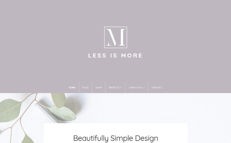 Min Theme WordPress Minimalist Theme
