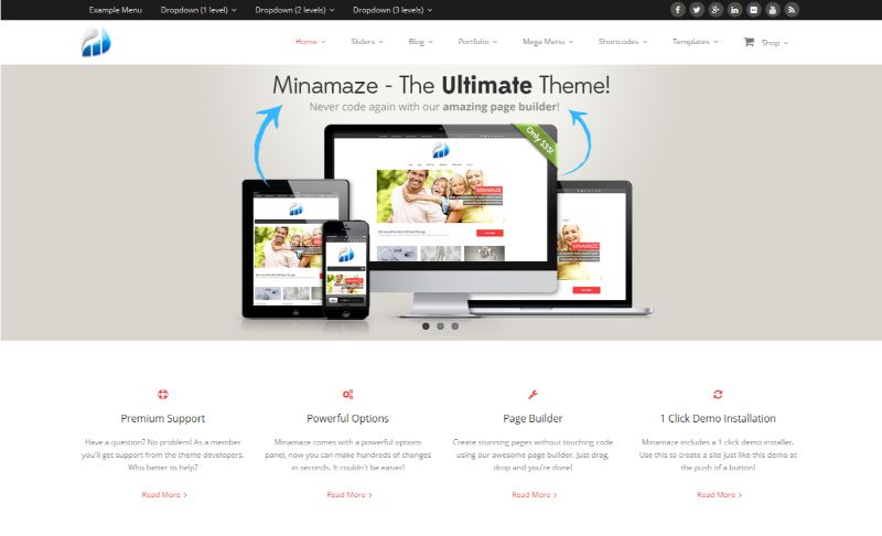 Minamaze WordPress Minimalist Theme