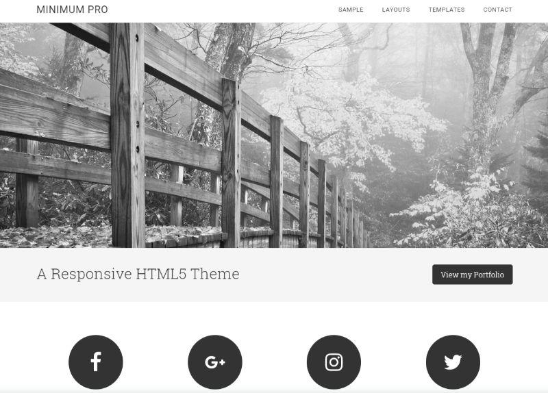 Minimum Pro WordPress Minimalist Theme