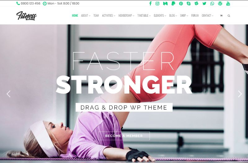 Mojo Fitness WordPress Theme