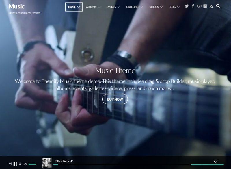 Music WordPress Music Theme