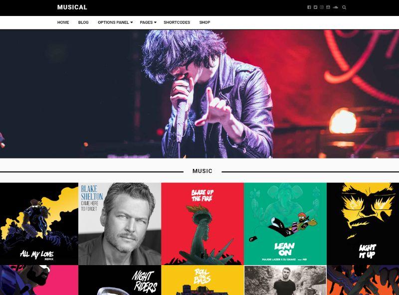 Musical WordPress Music Theme