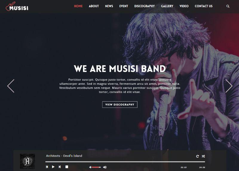 Musisi WordPress Music Theme