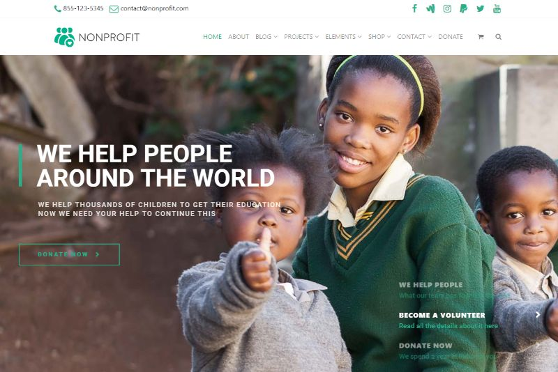 Nonprofit by VisualModo WordPress Charity Theme