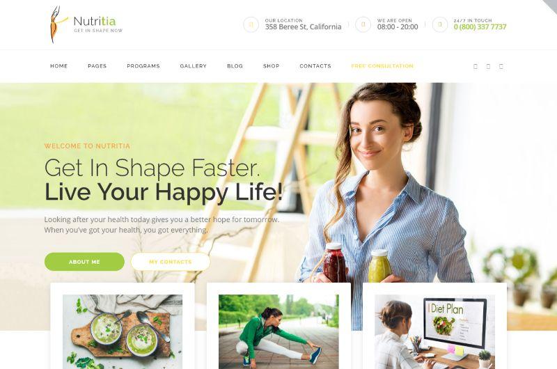 Nutritia Lifestyle WordPress Theme