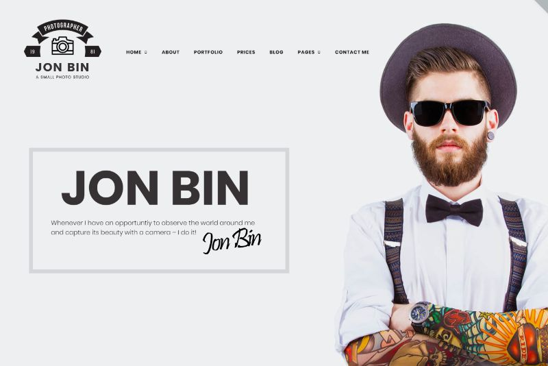 One Page Freelancer by TemplateMonster