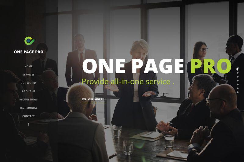One Page Pro WordPress Theme