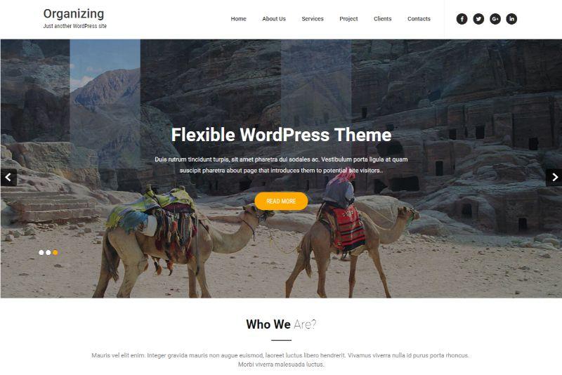 Organizing Pro One Page WordPress Themes