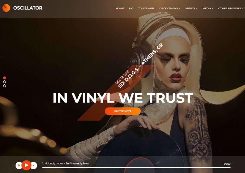 Oscillator WordPress Music Theme