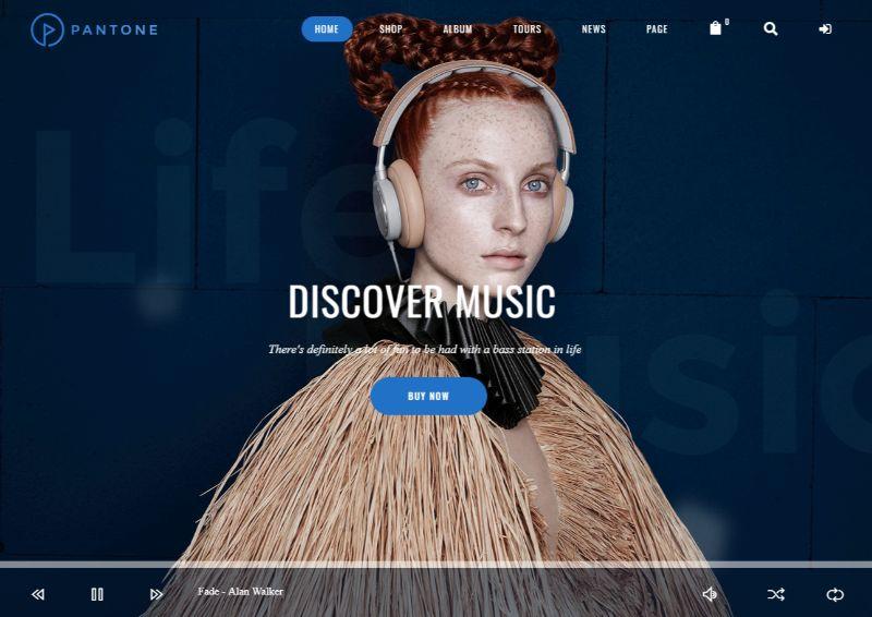 Pantone WordPress Music Theme