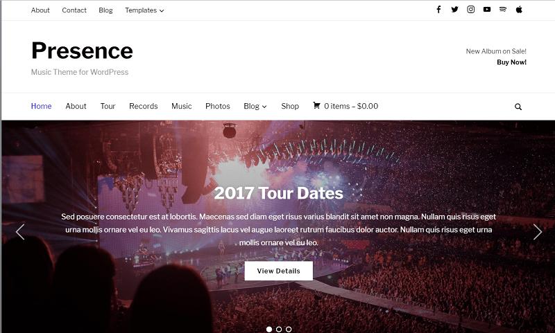Presence Multipurpose WordPress Theme