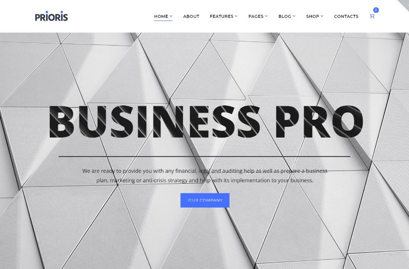 Prioris Consulting WordPress Theme