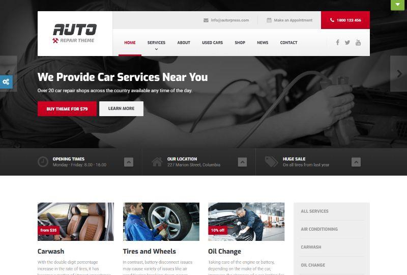 ProteusThemes Automotive WordPress Theme