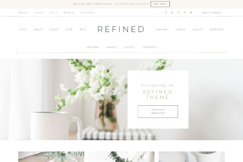 Refined Feminine WordPress Theme