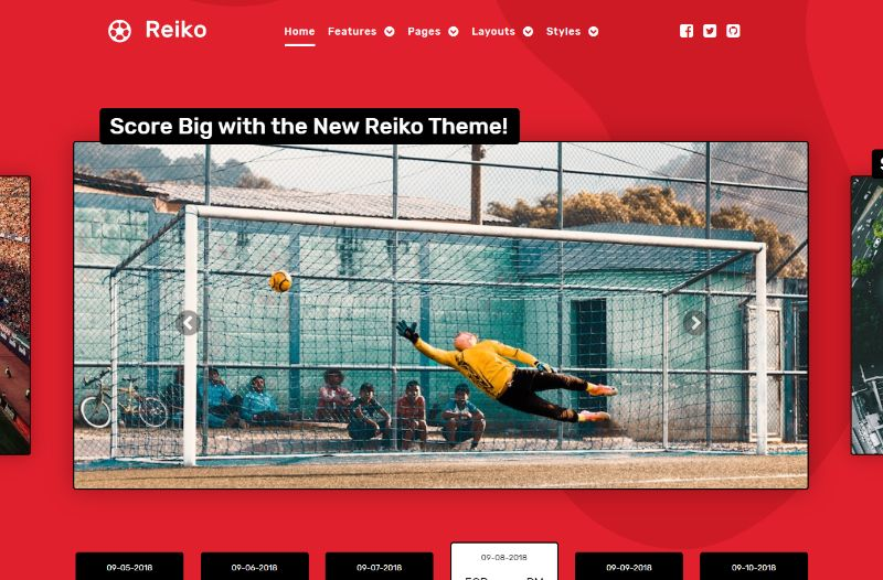 Reiko Sports WordPress Theme