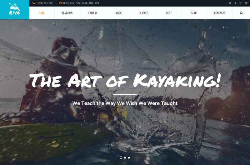 Riva Sports WordPress Theme
