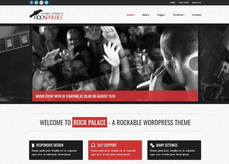 Rockpalace WordPress Music Theme