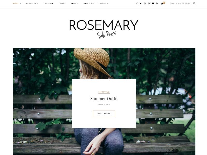 Rosemary Lifestyle WordPress Theme