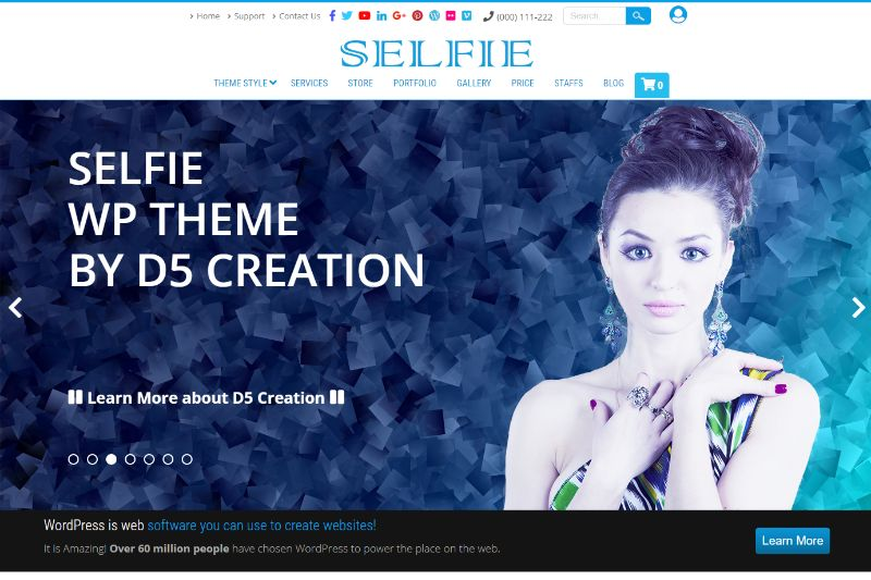 Selfie One Page WordPress Themes