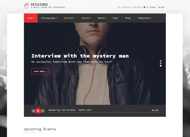 Sessions WordPress Music Theme