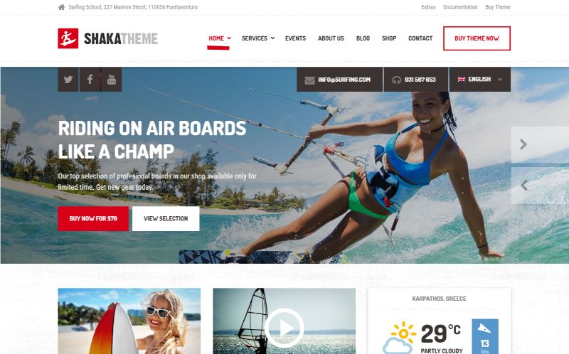 Shaka Sports WordPress Theme