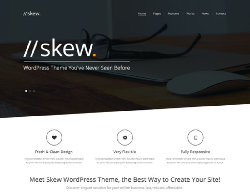 Skew One Page WordPress Themes