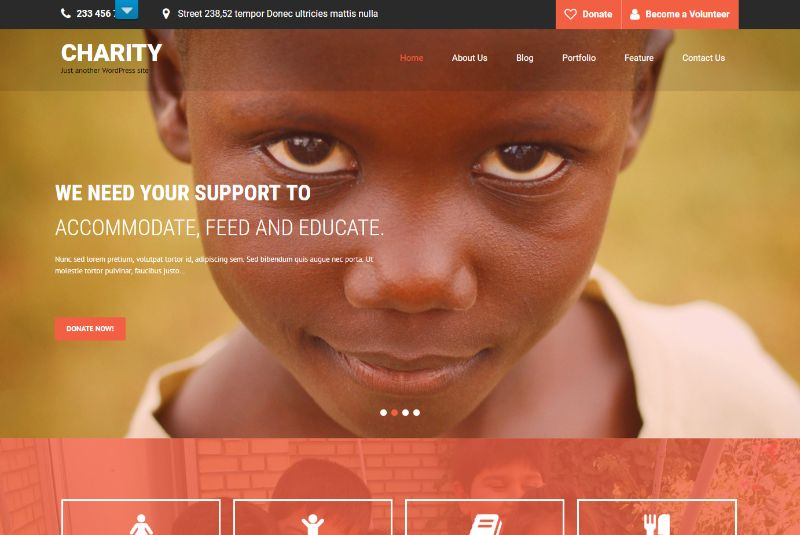 SKT Charity Pro WordPress Charity Theme