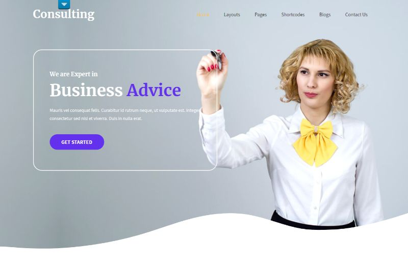 SKT Consulting WordPress Theme