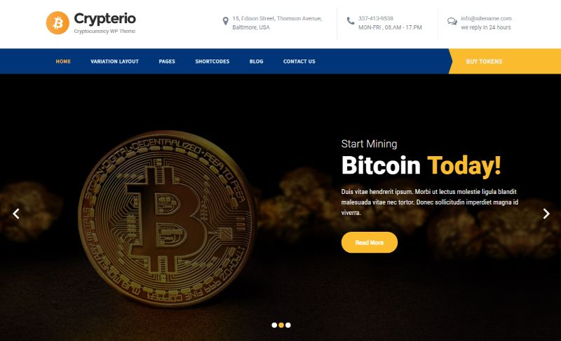 SKTTkhemes Bitcoin Cryptocurrency WordPress Theme