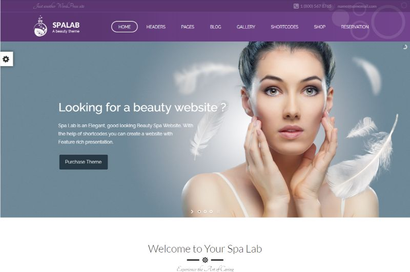 Spa Lab Beauty WordPress Theme