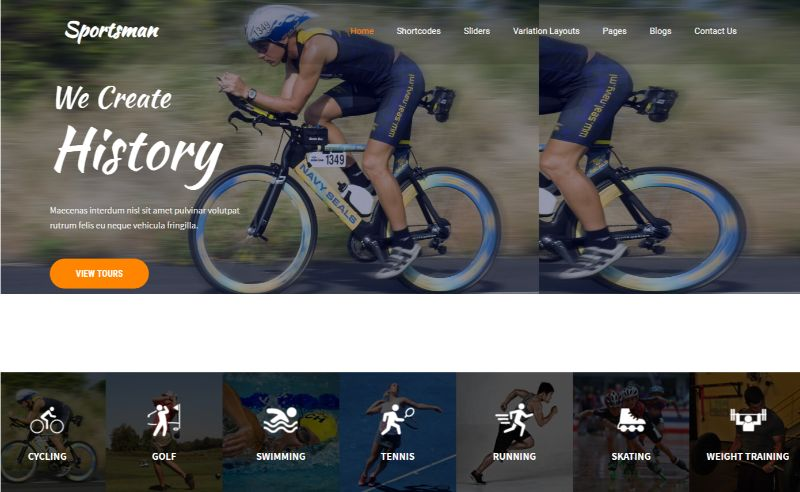 Sportsman Sports WordPress Theme